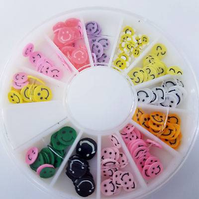 Nail Art Wheel With 12 Slots Smilie Face Fimo Designs Pure