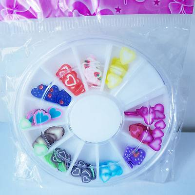Nail Art Wheel With Heart Designs Pure Beauty Training