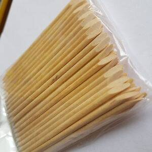 100 Wooden Cuticle Pusher Sticks