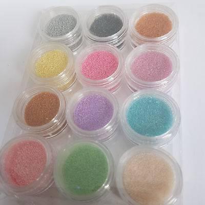 12 Bright Coloured Nail Art Beads Pure Beauty Training